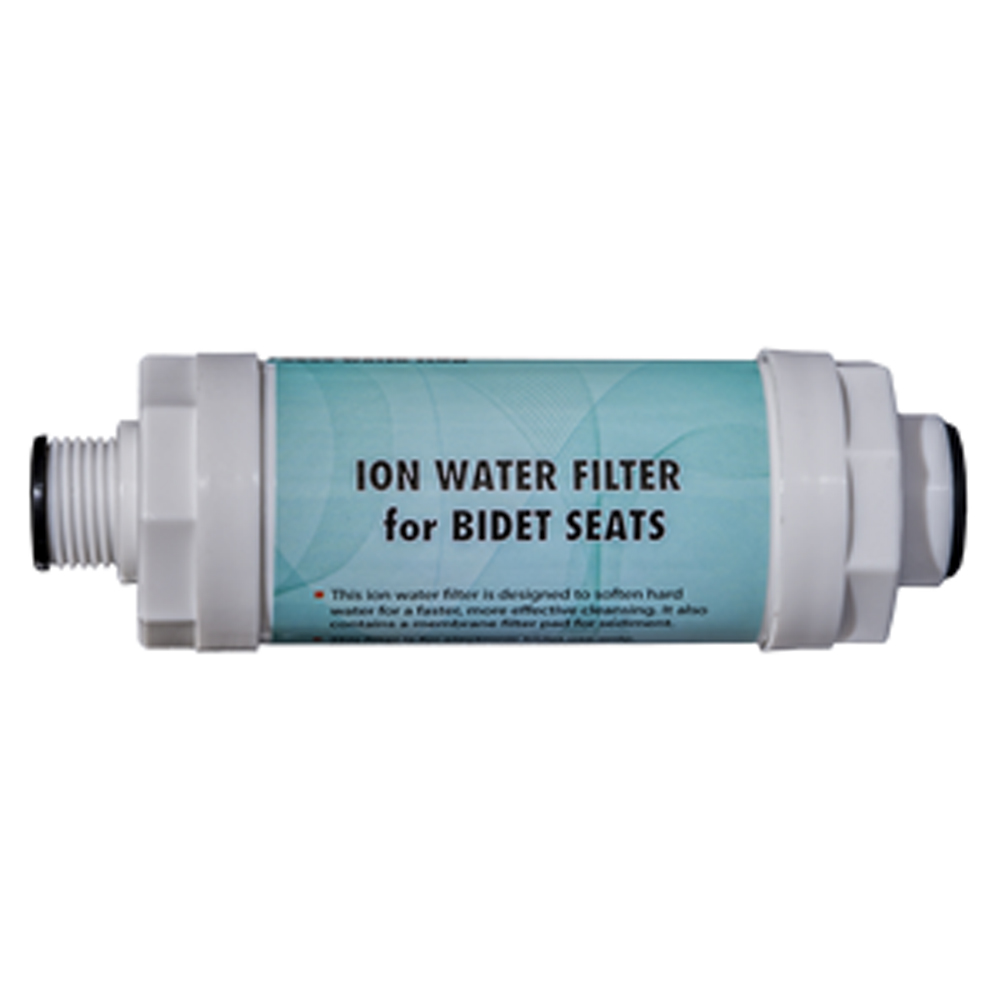 An image of an ion filter for filtering the water supply to the bidet seat.