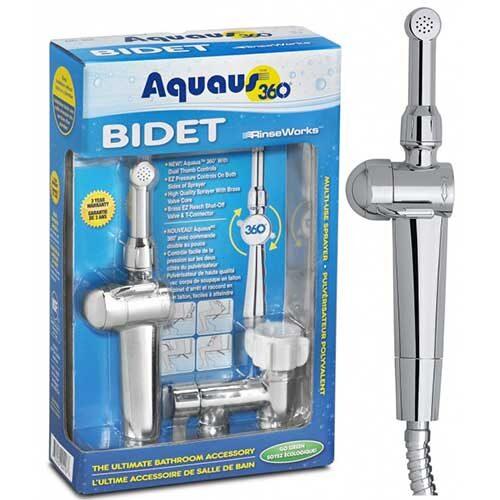 Aquaus 360 bidet sprayer box