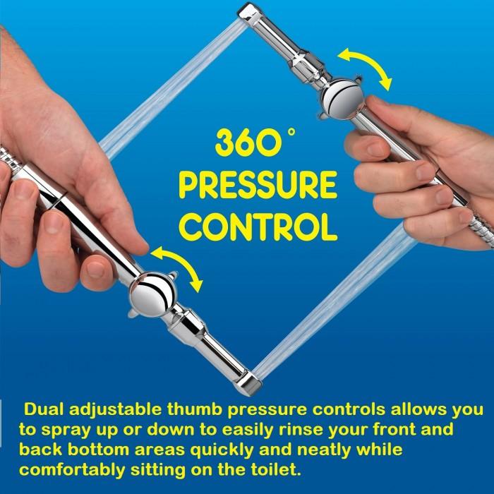 Aquaus 360 Hand Held Bidet Sprayer Clear Water Bidets