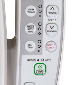 Novita BN-330(S) Bidet Seat Button Closeup
