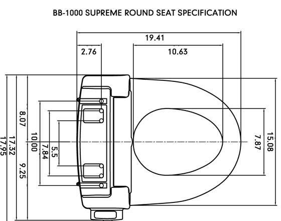 bio bidet bb 1000 bidet seat clear water bidets. Black Bedroom Furniture Sets. Home Design Ideas
